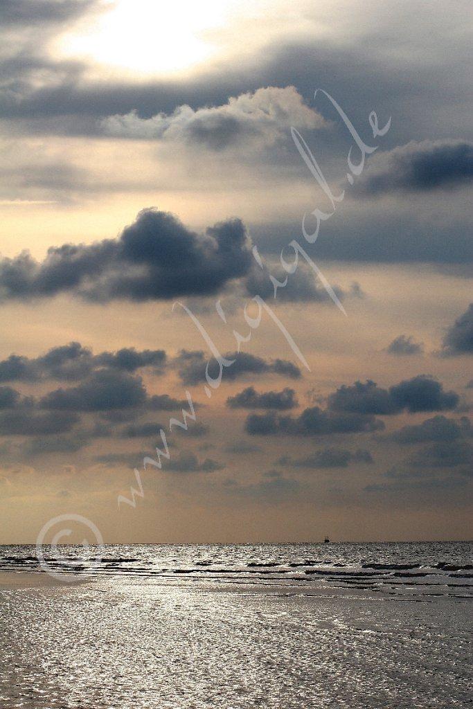 Himmel über dem Nordstrand